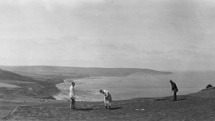 On The Links Photograph by Alfred Hind Robinson