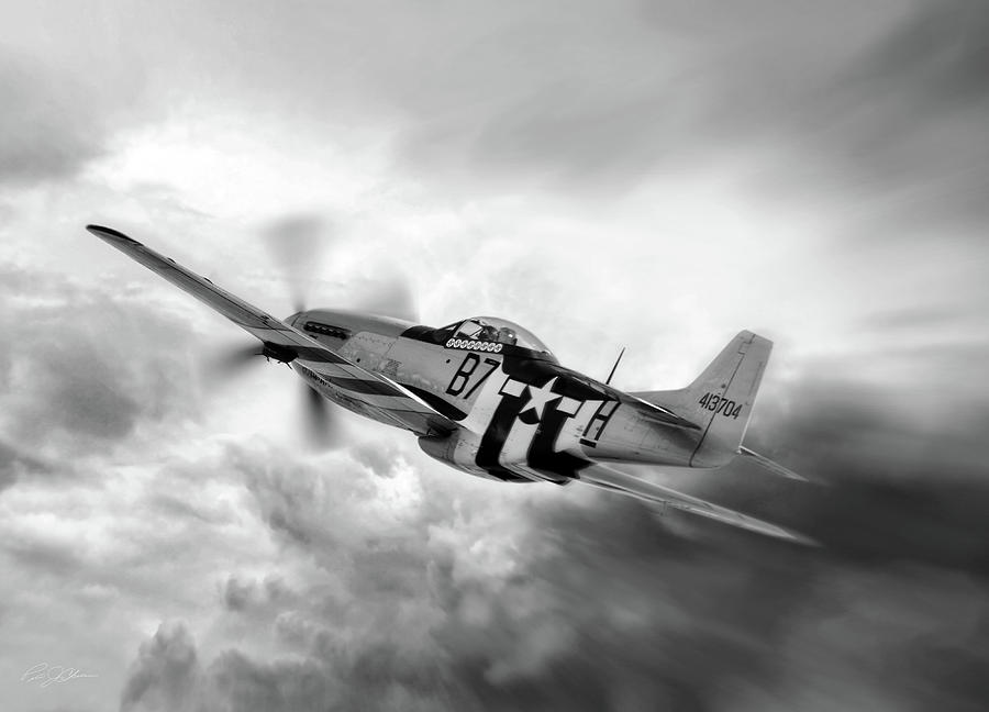 Aviation Digital Art - On The Move P-51 by Peter Chilelli