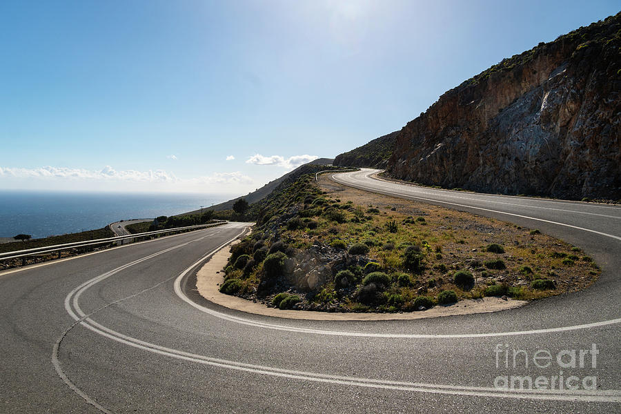 On the road in Crete, Greece by Didier Marti