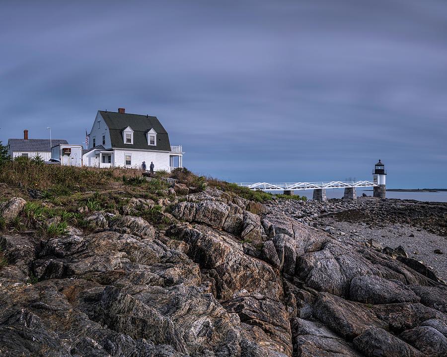 On The Rocks Marshall Point by Robert Fawcett