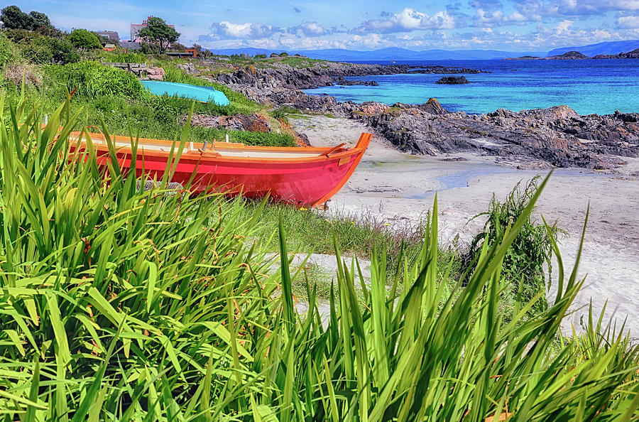 On the Shores of Iona - Scotland - Colorful Boats by Jason Politte