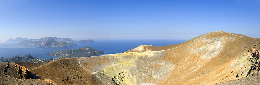 Archipelago Photograph - On The Top Of Volcano by Maremagnum