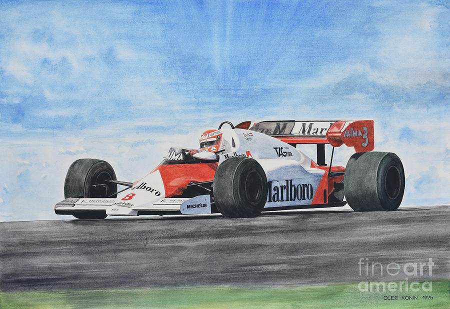 Formula One Painting - On The Top by Oleg Konin