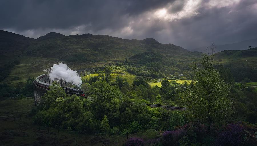 Landscape Photograph - On The Way To Hogwarts by Javier De La Torre