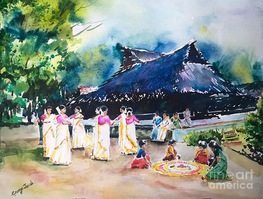 Onam thiruvathira  by George Jacob