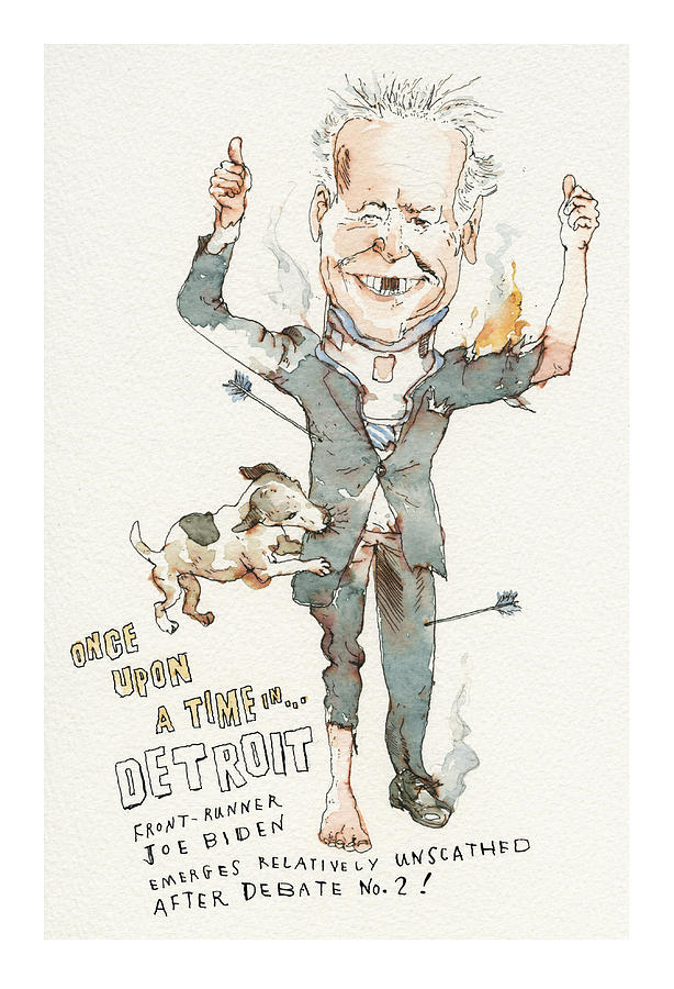 Once Upon a Time . . . in Detroit Painting by Barry Blitt