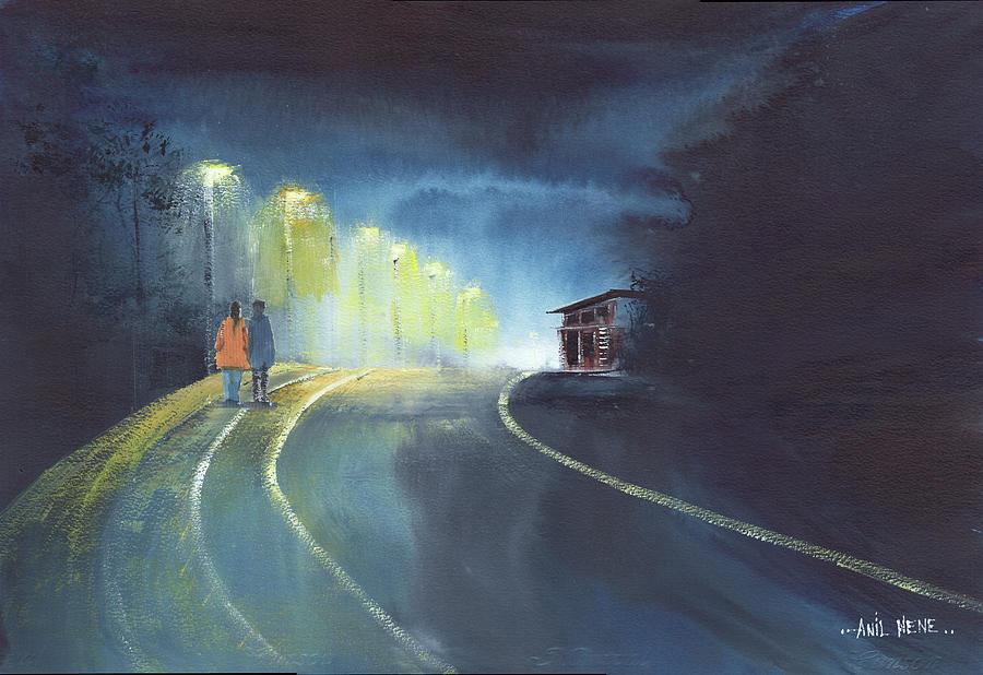 One Fine Rainy Evening by Anil Nene