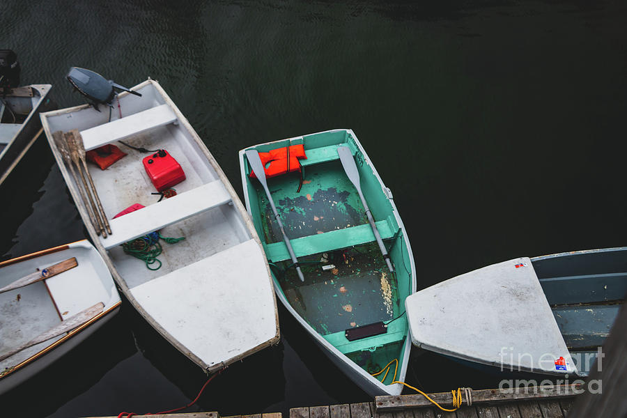 One Green Dinghy Photograph