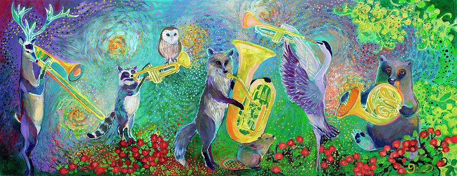 Music Painting - One Magical Evening by Jennifer Lommers