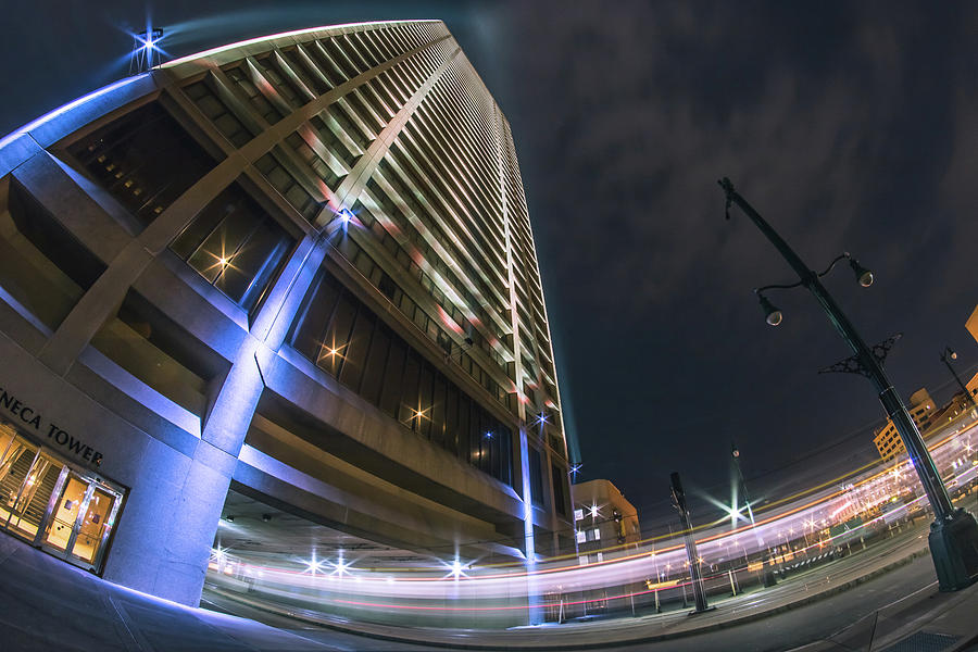 One Seneca Tower at night by Jay Smith