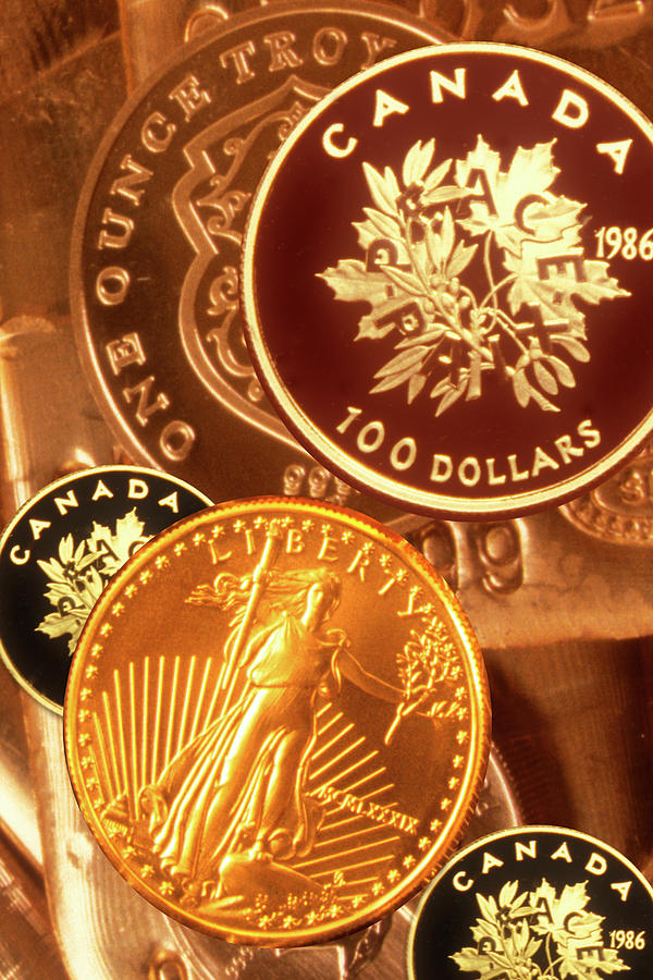 One Troy Ounce Us And Canadian Gold Photograph by Lyle Leduc
