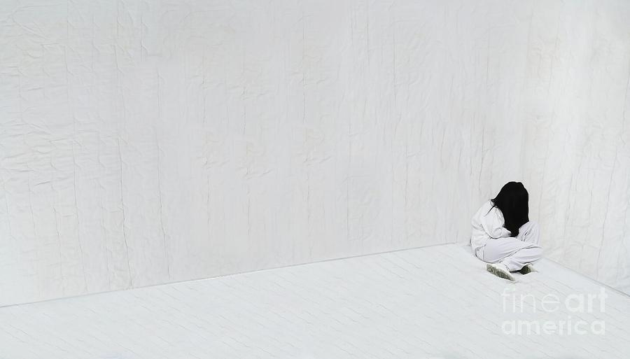 One Woman Hiding In The Corner Of An Photograph by Talen Ashton / Eyeem