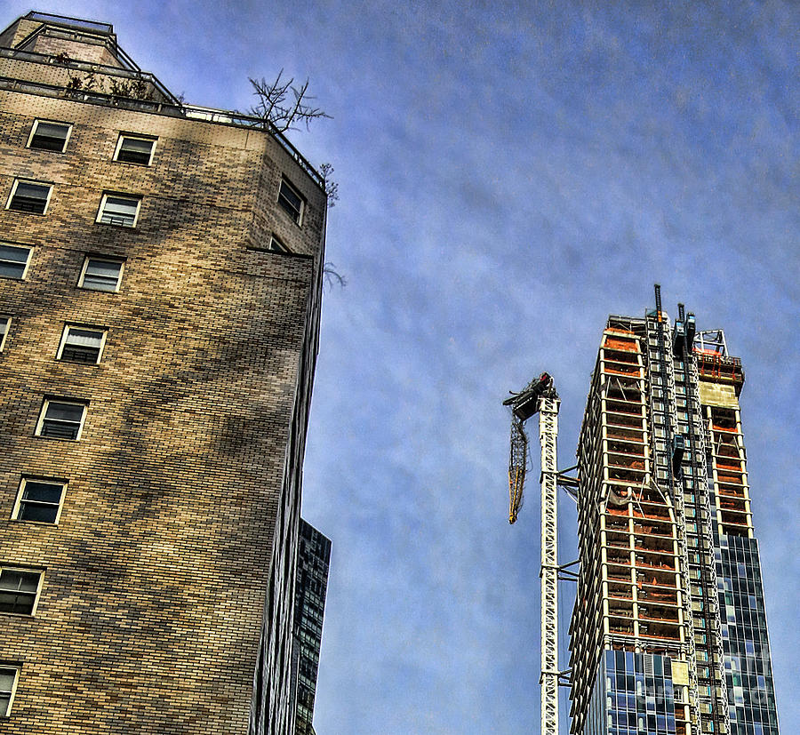 ONE57 Hurricane Sandy Damaged Crane NY Oct 29 2012 by Chuck Kuhn