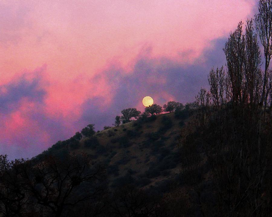 O'Neil Canyon Moonrise by Timothy Bulone