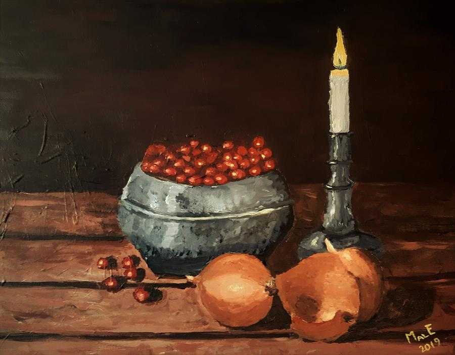 Onions and berries by Mats Eriksson