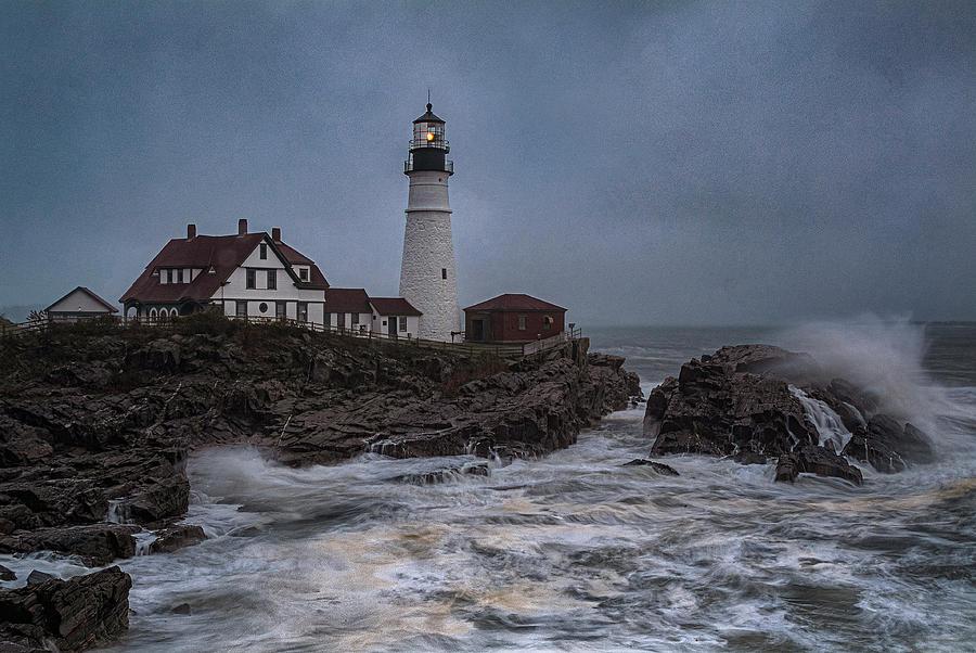 Only In Maine - Portland Head Light by Robert Fawcett
