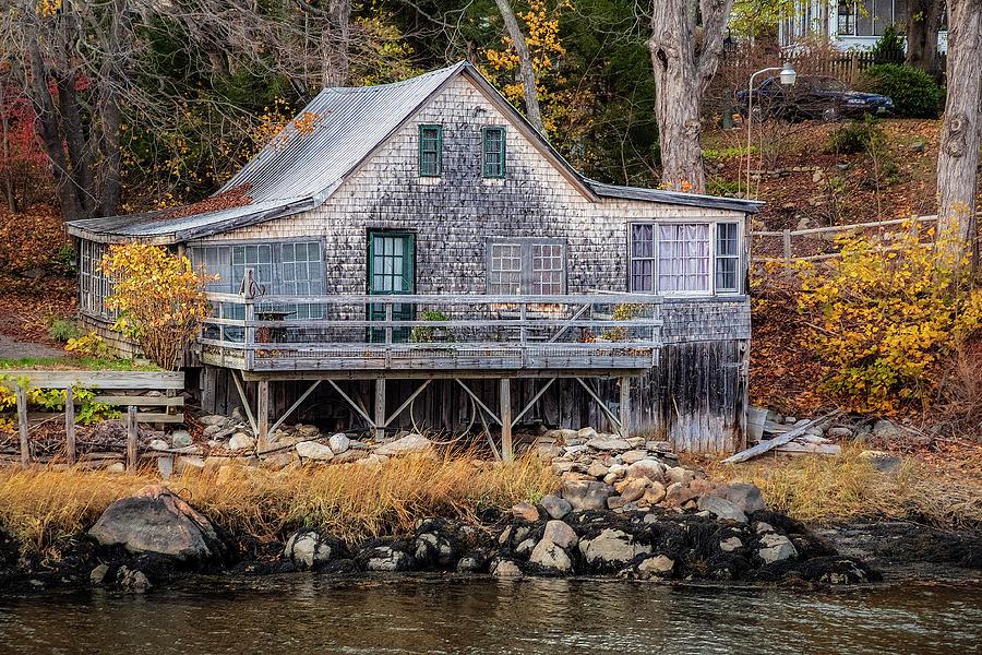 Only In Maine - Winter Harbor by Robert Fawcett