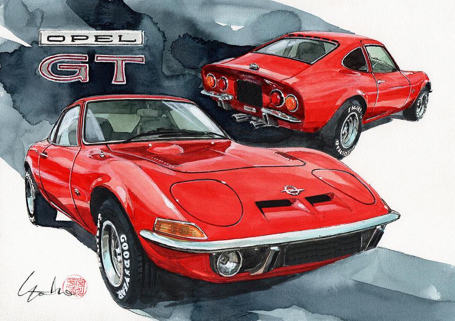 Opel Painting - Opel GT by Yoshiharu Miyakawa