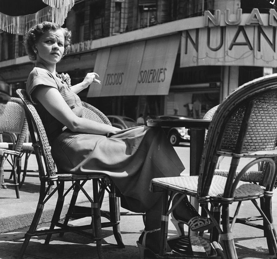 Open Air Cafe Photograph by Bert Hardy