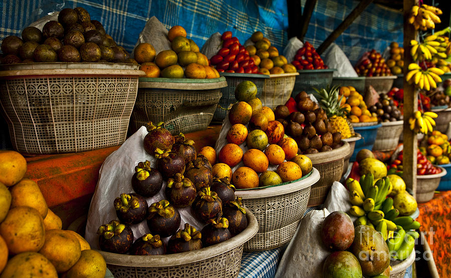 Stack Photograph - Open Air Fruit Market In The Village by Unique Vision