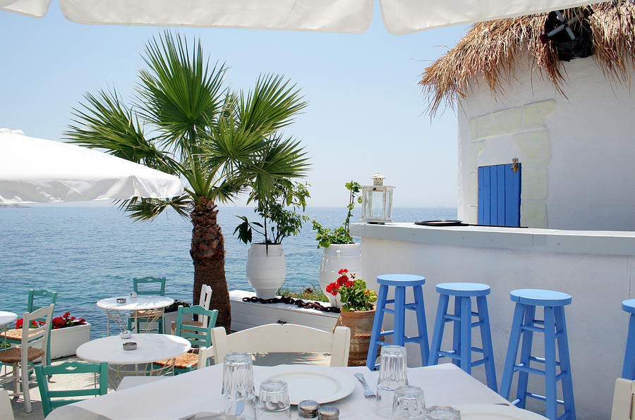 Open Air Restaurant By The Sea In Photograph by Alanphillips