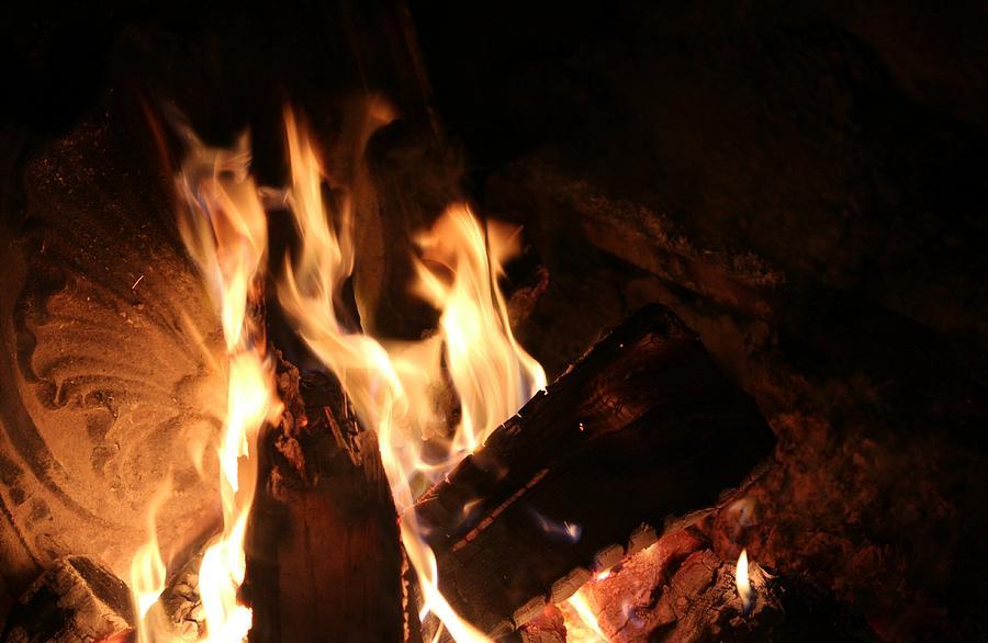 Open Fire in Pioneer Village by The Art Of Marilyn Ridoutt-Greene
