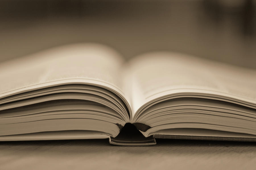Open Text Book Photograph by Simon Vogt