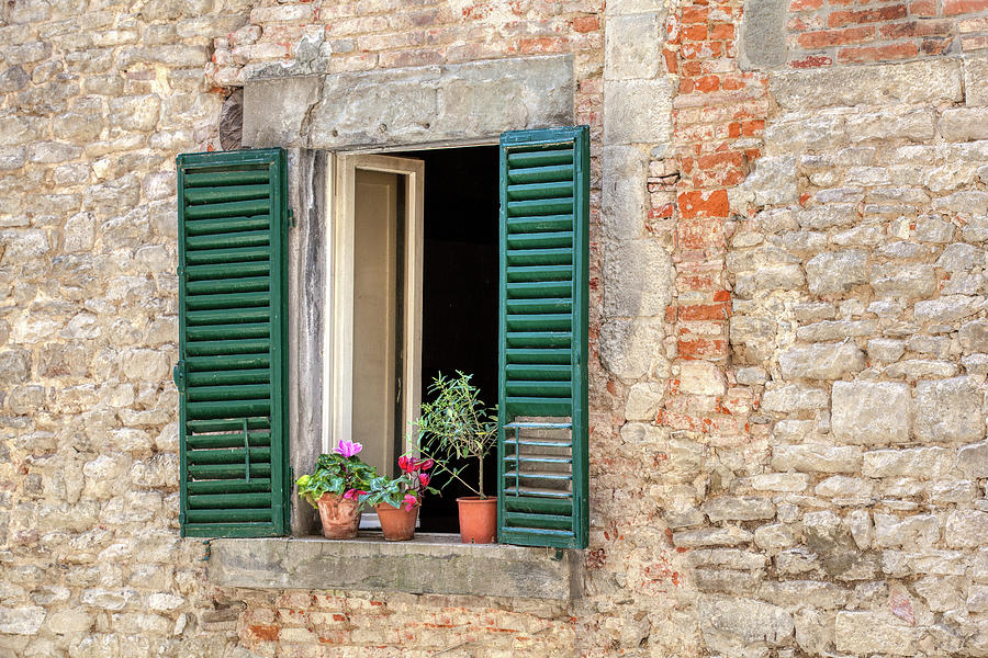 Open Window of Cortona by David Letts