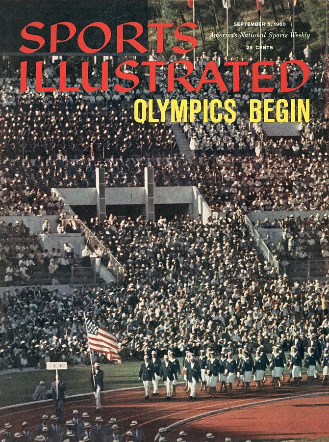 Opening Ceremony, 1960 Summer Olympics Sports Illustrated Cover Photograph by Sports Illustrated