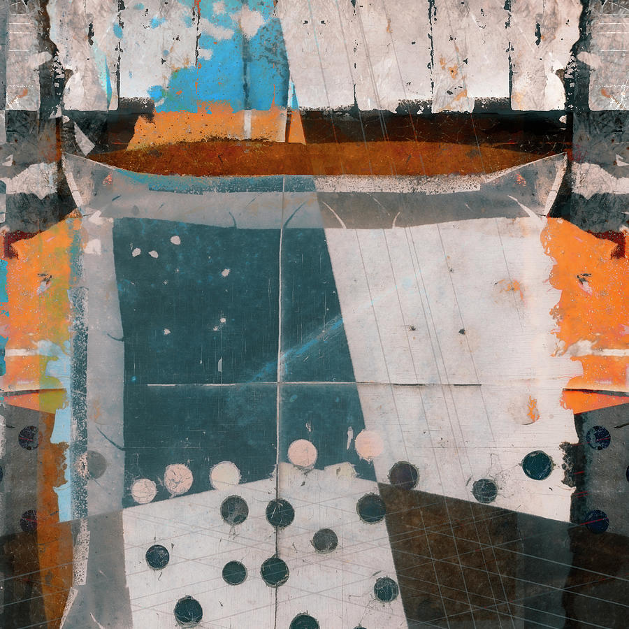 Abstract Mixed Media - Opening Night Square Version by Carol Leigh