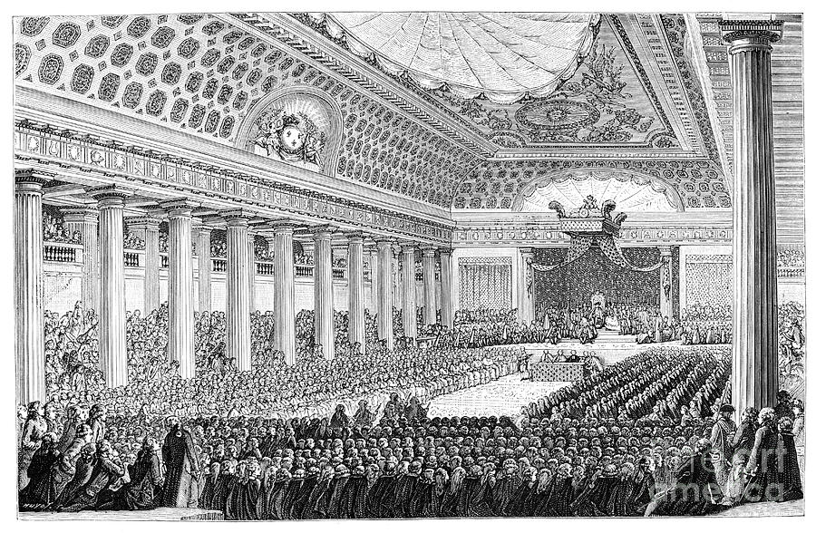 Opening Of The Estates General Drawing by Print Collector