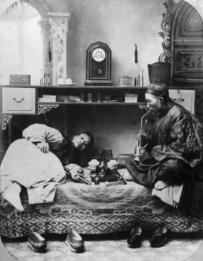 Opium Smokers Photograph by Hulton Archive