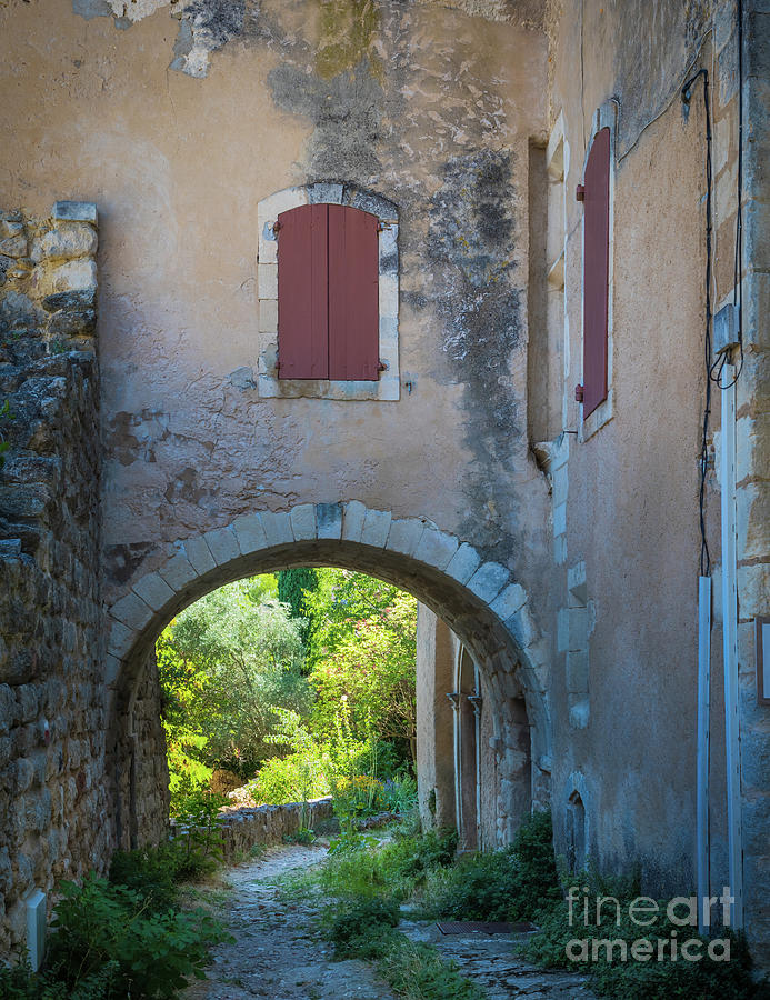 Cote D Azur Photograph - Oppede Road by Inge Johnsson