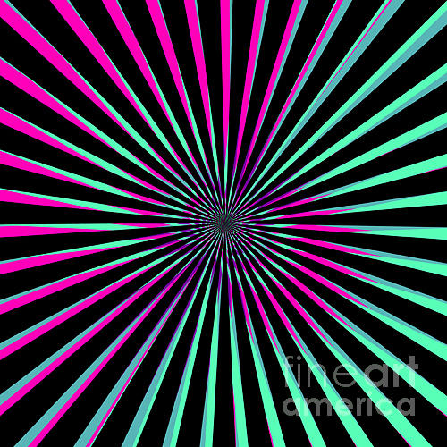 Vortex Photograph - Optical Illusion Bright by Christiana Mustion