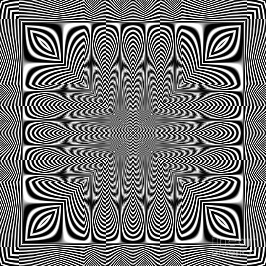Heat Digital Art - Optical Illusion by Markus Gann
