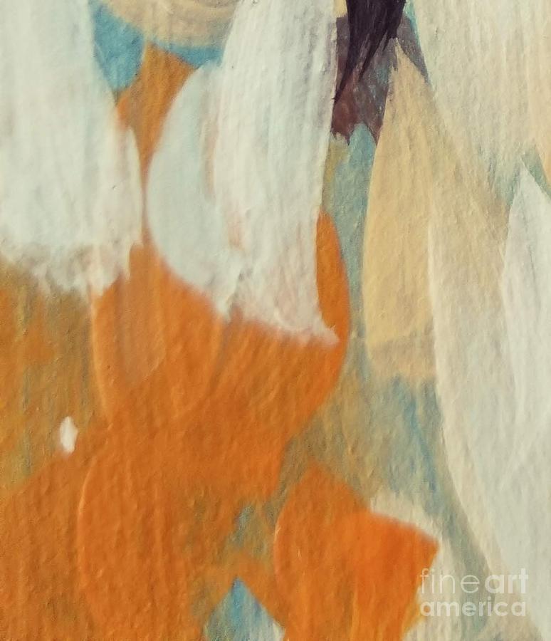 Orange Painting - Orange #2 by Maria Langgle