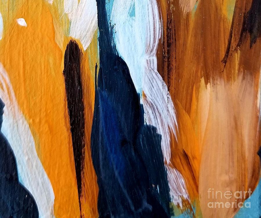 Orange #6 Painting by Maria Langgle