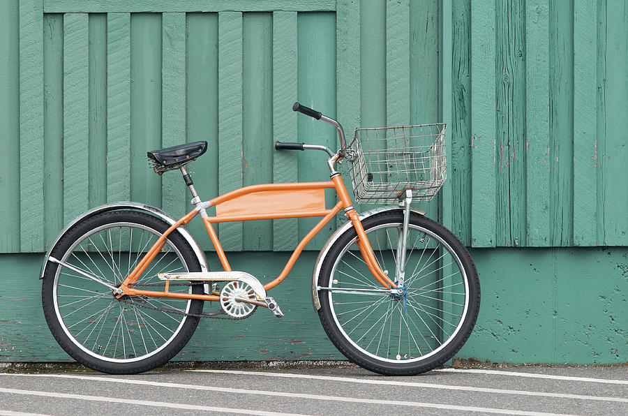 Orange Color Photograph - Orange Bike by Tbd
