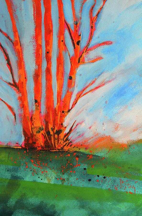 Orange Birch by Nancy Merkle