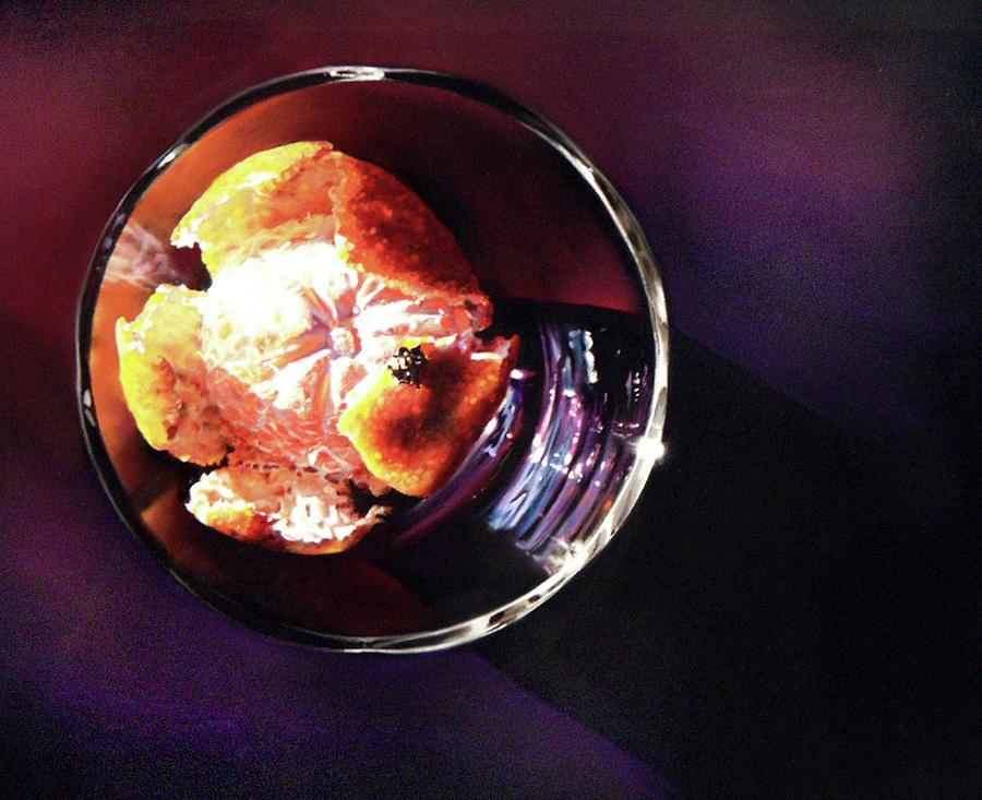 Mandarin Orange Pastel - Orange Bowl by Dianna Ponting