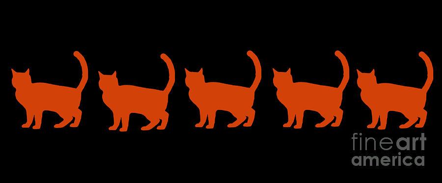 Orange Cat Mixed Media - Orange Cats by PurrVeyor Com