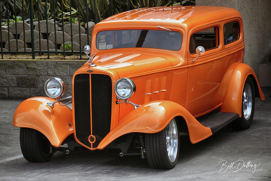 Orange Chevy Rod by Bill Dutting