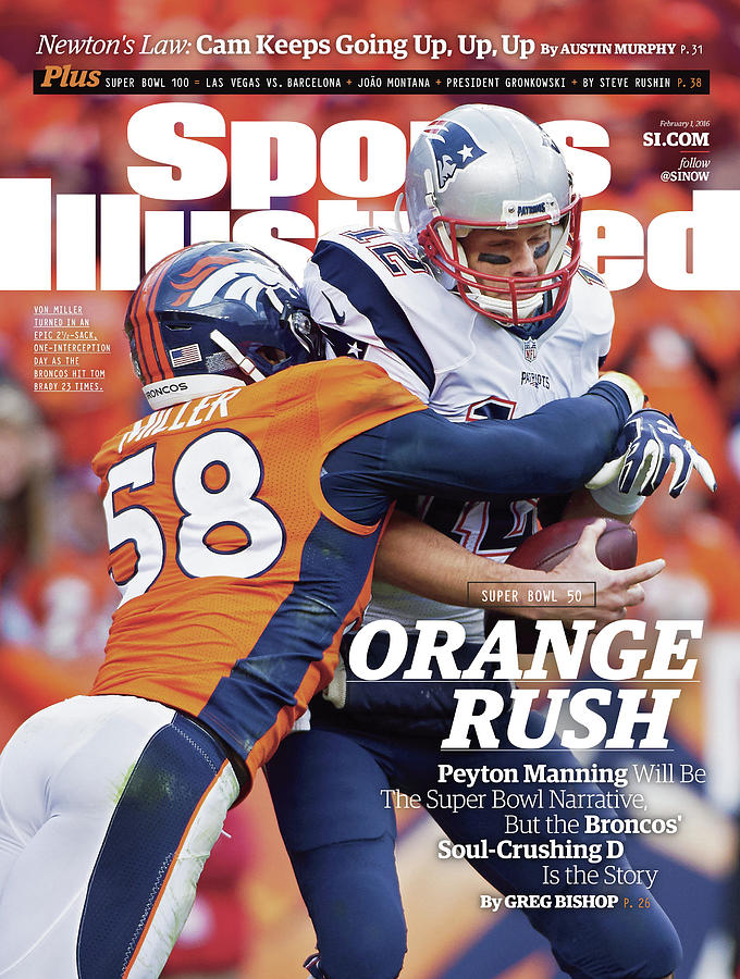 Orange Crush Peyton Manning Will Be The Super Bowl Sports Illustrated Cover Photograph by Sports Illustrated