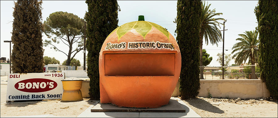 Orange Juice Stand, Route 66, Fontana by Andy Romanoff