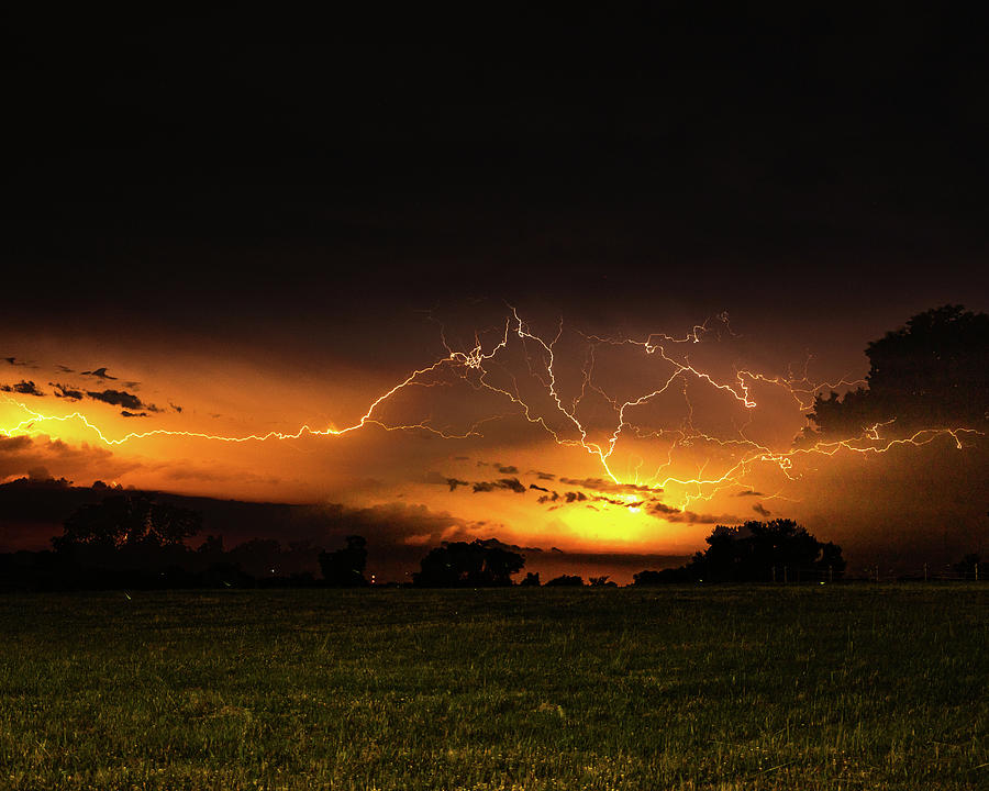 Orange Lightning by Jay Stockhaus