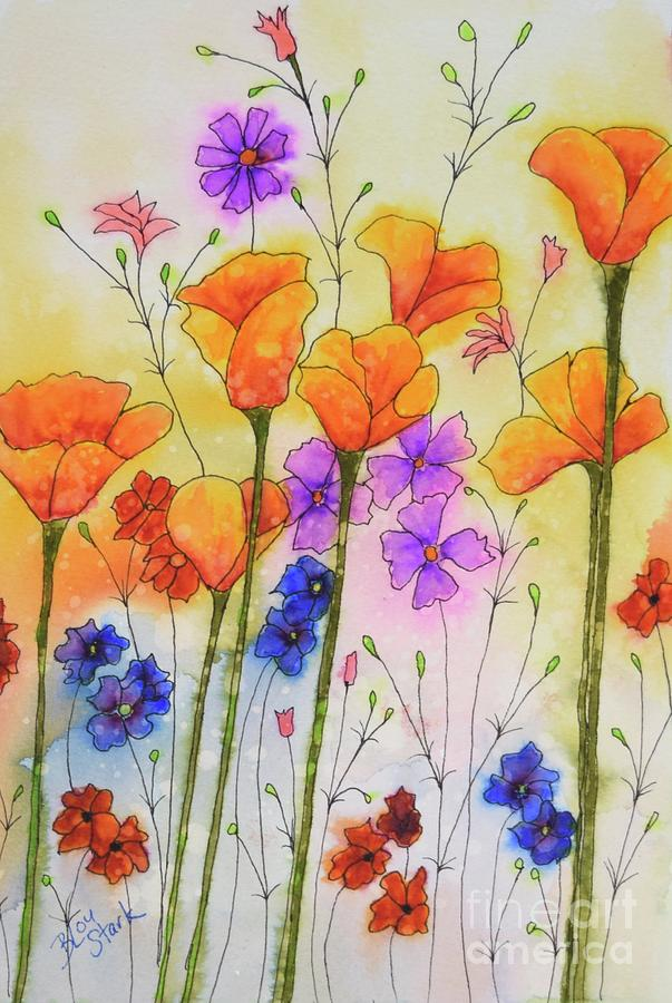 Orange Poppies by Barrie Stark