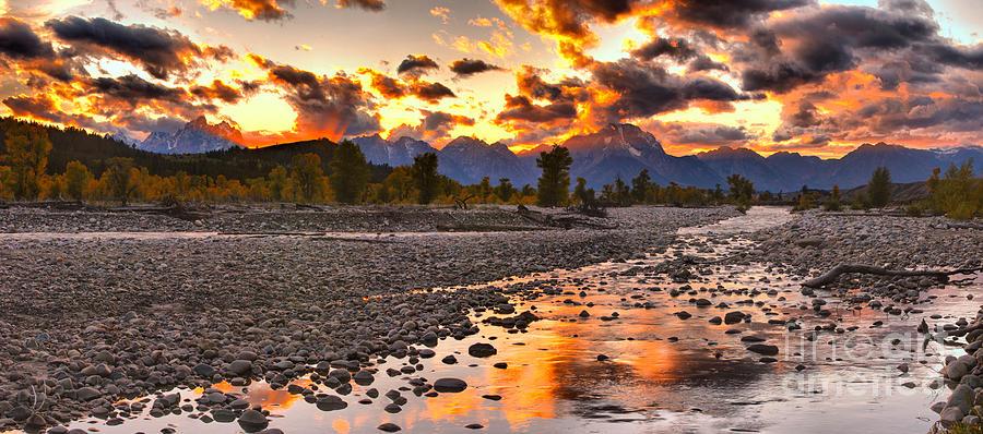 Orange Reflections In Spread Creek by Adam Jewell