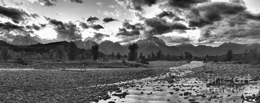 Orange Reflections In Spread Creek Black And White by Adam Jewell