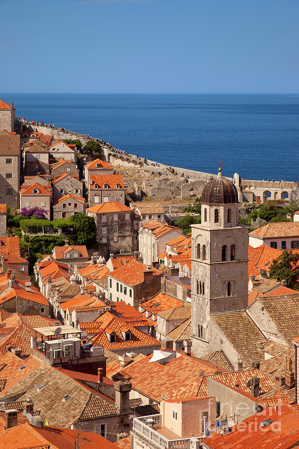 Orange Roofs in Dubrovnik by Brian Jannsen