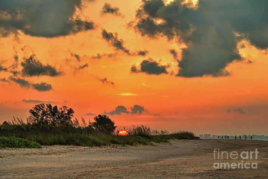 Orange Sunrise Over Sanibel Island by Jeff Breiman